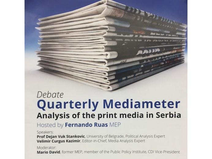 NAJAVA: Predstavljanje Kvartalnog Medijametra u Briselu