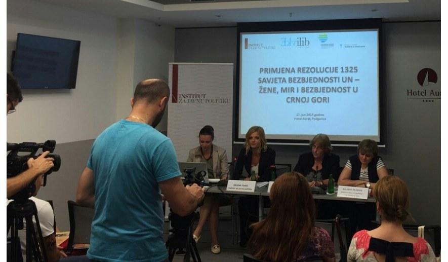 Okrugli sto Primjena rezolucije 1325 Savjeta bezbjednosti UN – Žene, mir i bezbjednost u Crnoj Gori''